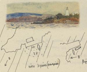 Όπως οι πρώτοι χαρτογράφοι, οΚ.Φανουράκης σχεδιάζει χάρτες και χρωματίζει τις εικόνες