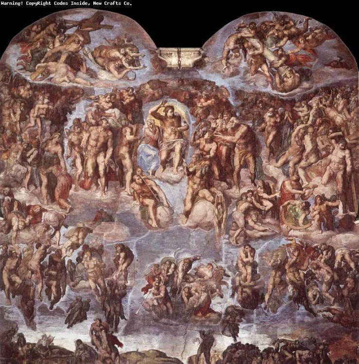 ΔΕΥΤΕΡΑ ΠΑΡΟΥΣΙΑ, το περίφημο έργο του Μικελάντζελο, στην Καπέλα Σιξτίνα