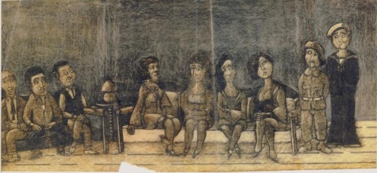"""""""Το Μπορντέλο"""" άγνωστο σχέδιο του Γιάννη Ανδρεαδάκη"""