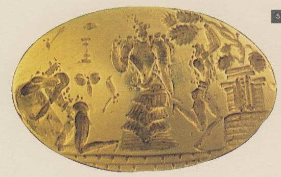 Ολόχρυσο μινωικό δακτυλίδι, από ασύλητο τάφο που ανέσκαψεο Γ.Σακελλαράκης