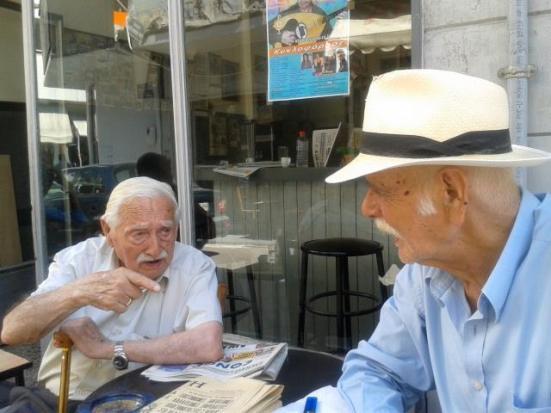 Με αιωνόβιο  φίλο του, Ελληνο- βραζιλιανο.