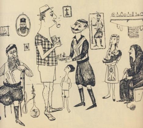 """Σχέδιο του Μίνου Αργυράκη 1957, από την """"ΟΔΟ ΟΝΕΙΡΩΝ"""""""
