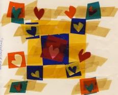 Κάρτα της ζωγράφου Μαρίας Σταυρακάκη-κολάζ 1988