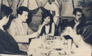 Ο Γ.Ζεβελάκης δεξιά της Ελένης Καραϊνδρου, δίπλα του Μ.Συμβουλάκης-δεξιά της Μ.Ρουσάκης Μ.Ρουκακιανακης.
