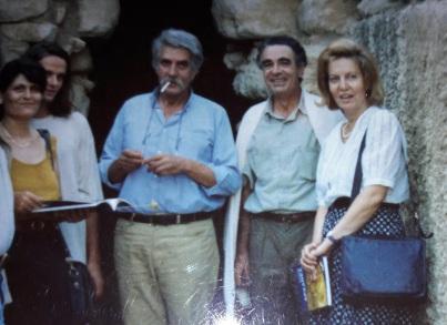 Από αριστερά: Άννα Ζεβελάκη,Διογ.Βεριγάκης,Γίννης Σακελλαράκης, Νίκος και Νίκη Βριγάκη