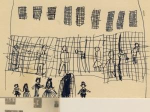 Καρτ ποστάλ που κυκλοφόρησε στη Γαλλία, την εποχή των συνταγματαρχών-παιδικό σχέδιο για την ΕΛΛΑΔΑ . Αρχείο ΑΛΚΜΑΝ
