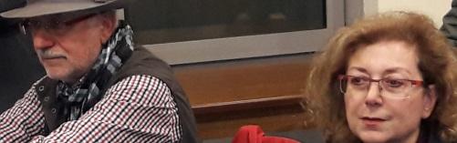 Ζαχάρης Μιχεάκης και Βιβή Δερμιτζάκη, από τους στενού φίλους της ΤΟΛΜΗΣ/φωτ επο την εκδήλωση