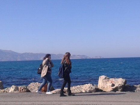 Η θάλασσα ησυχάζει για τις Αλκυονίδες...(φωτογραφία 2.2.2016)