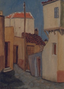 Ηράκλειο του 1950, ζωγραφική Νίκου Φωτ'ακη (1904/1959)