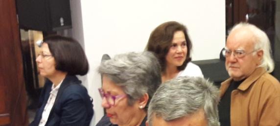 Από την εκδήλωση: Δεξιά Ανδρέας Σαββακης, συγκρατουμενος και ομοτράπεζοςφυλακή)με τον Κώστα Κ. (στη Δεξια η σύζυγος Ν.Γιανναδάκη)