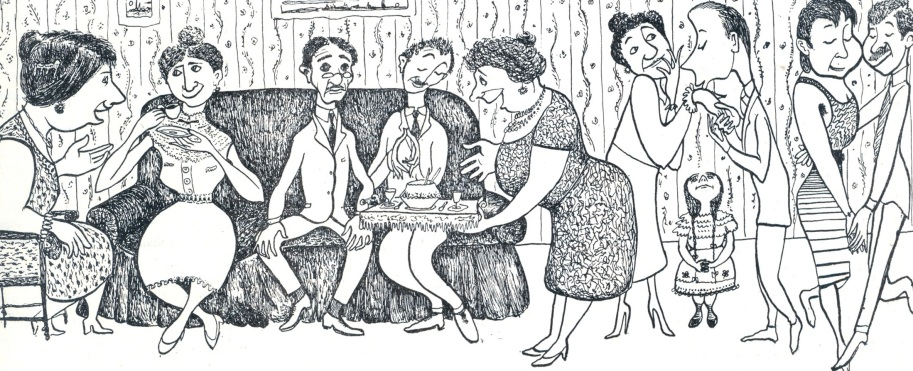 Σκίτσο Μίνου Αργυράκη, -περιοδικό ΖΥΓΟΣ 1956