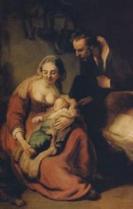 Ρέμπραντ 1635- Η Αγία Οικογένεια σαν κοινοί άνθρωποι σ ενα σπιτάκι,
