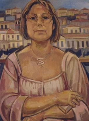 """Προσωπγφία της συντρόφου του Ελβίρας,  η αγάπη του καλλιτέχνη δεν κρύβεται: """"γεμίζει με χρώματα τον χρωστήρα μου και τη ζωή με φως"""" γράφει"""