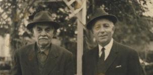 Σπύρος δεξιά και Βασίλης Ζεβελάκης αριστερά, Ηράκλειο δεκαετία του 1950