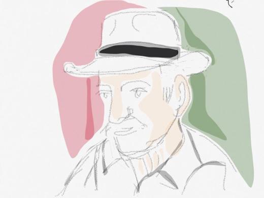 Ο Βαγγέλης Σκουλάς, σκίτσο από το Site alkman.gr   του B.Z.
