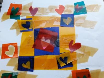 Κάρτα κολάζ της ζωγρφαφου Μαρίας Στ. 1981