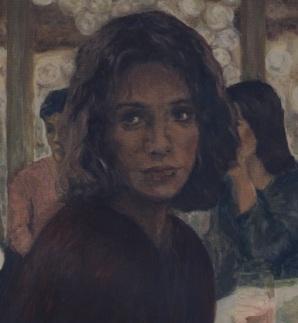 Η Λίνα Κουβίδου τα καταφέρνει να δώσει ιμπρεσιονιστική ατμόσφαιρα στο πορτραίτο της