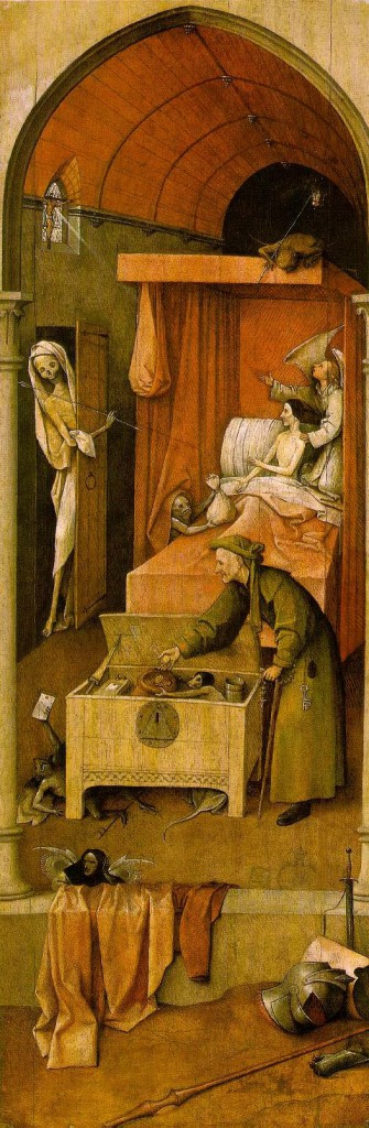 Ιερώνυμος Μπός, ο θάνατος τους τσιγκούνη