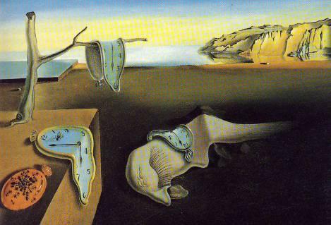 """Έργο του Νταλί """" Η εμμονή της Μνήμης"""" 1932 / το σχεδίασε σε πολλές παραλλαγές ακόμα και σε γλυπτά."""