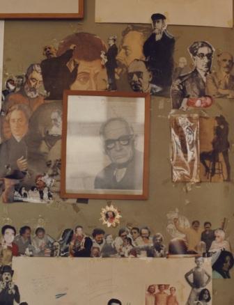 Γραφίο της Ρ.Χούρδου 4 - λεπτομέρεια τοίχου του χώρου