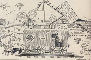 Το Ηράκλειο της μεταπολίτευσης το χαρακτήρισαν οι δήμαρχοί του, ο γνωστός σκιτσογράφος Γιάννης Ανδρεαδάκης τους σατιρίζει
