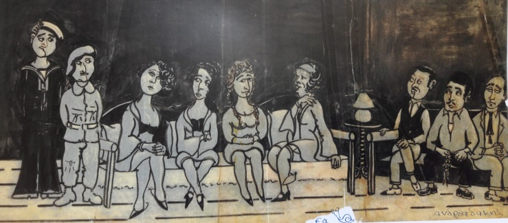 Πορνείο του Λάκκου, σκίτσο του Γιάννη Ανδρεδάκη