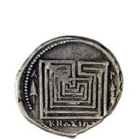 Ο Λαβυρινθος, αρχαίο νόμισμα