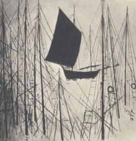 Πίνακας τουΣπύρου Βασιλαίου, από το βιβλίο του ΦΩΤΑ ΚΑΙ ΣΚΙΕΣ 1969