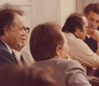 Από αριστερά: Μ.Καρέλλης,Μυκωνιάτης, Β.Ρομπογιανν'ακης, Μανόλης Παπαϊωάννου...(αρχείο ΑΛΚΜΑΝ)