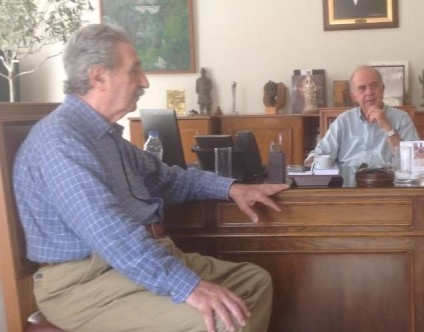 Γρηγόρης Σηφάκης με τον Δήμαρχο Ηρακλείου Β Λαμπρινό